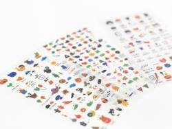Lot de 400 mini stickers - 6 planches d'autocollants pour planner