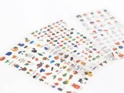 Lot de 400 mini stickers - 6 planches d'autocollants pour planner   - 1