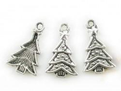 1 Weihnachtsbaumanhänger - silberfarben