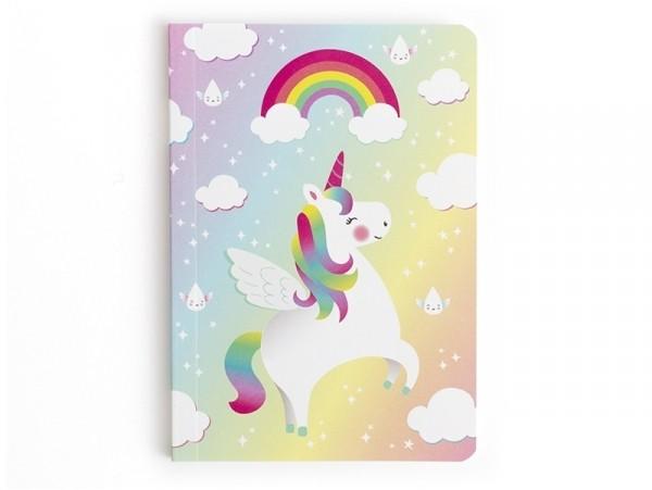 Petit carnet de poche - Licorne et arc-en-ciel Sass&Belle - 1
