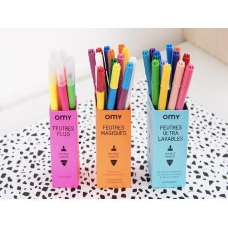 Acheter Boite de 9 feutres fluos à double pointes - 8,90€ en ligne sur La Petite Epicerie - Loisirs créatifs