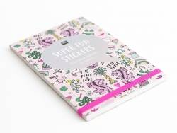 Carnet de stickers, Wonderland - rose