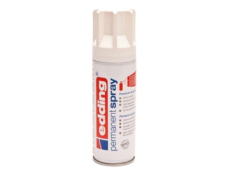 Peinture acrylique aérosol - blanc mat -  200ml Edding - 1