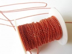1m chaine bille rouge bordeaux brillant 1,5 mm