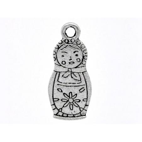 Acheter 1 breloque poupée russe - argentée - 0,99€ en ligne sur La Petite Epicerie - Loisirs créatifs