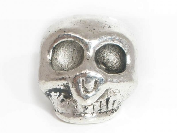 1 Perle métal - crane  - 1