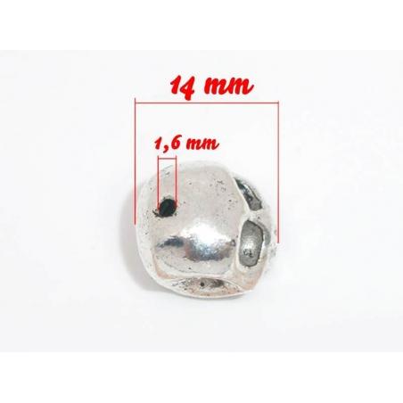 1 Perle métal - crane  - 3
