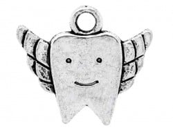 1 milk tooth charm - silver-coloured