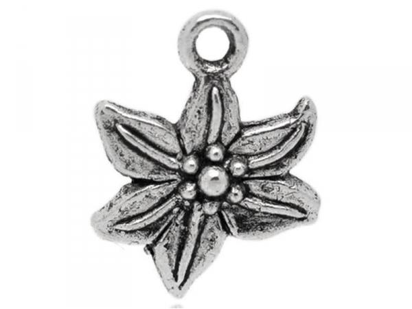 1 fleur-de-lis charm- silver-coloured