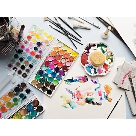 Acheter Boîte peinture à l'eau / aquarelle - 36 couleurs basiques - 19,99€ en ligne sur La Petite Epicerie - Loisirs créatifs