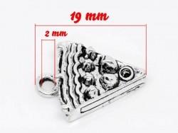 Acheter 1 Breloque part de gâteau - argentée - 0,79€ en ligne sur La Petite Epicerie - Loisirs créatifs