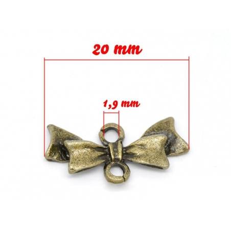 Acheter 1 Breloque connecteur noeud allongé - couleur bronze - 0,89€ en ligne sur La Petite Epicerie - Loisirs créatifs