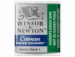 Acheter Aquarelle fine Winsor et Newton - Vert de Hooker foncé - 1/2 godet - 2,19€ en ligne sur La Petite Epicerie - 100% Lo...