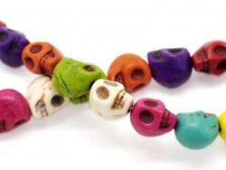 20 skull beads / size M