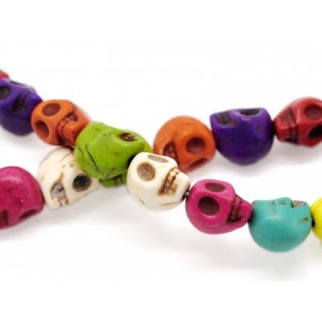 20 perles tête de mort Skulls / M