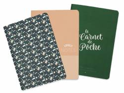 Trio de carnets de poche - A6