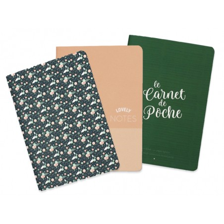Trio de carnets de poche - A6  - 1