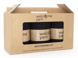 Kit trapilho pour réaliser un tapis en crochet - noir Welcome Yarn - 1