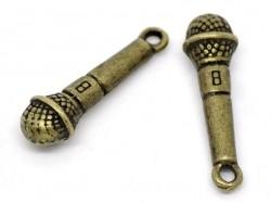 1 Breloque micro - couleur bronze