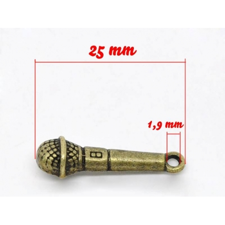 Acheter 1 Breloque micro - couleur bronze - 1,09€ en ligne sur La Petite Epicerie - Loisirs créatifs