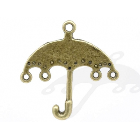 1 Breloque parapluie - couleur bronze