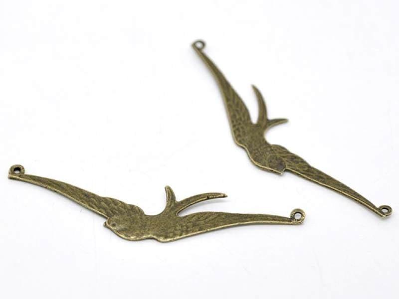 Acheter 1 Breloque oiseau ailes déployées - couleur bronze - 1,79€ en ligne sur La Petite Epicerie - Loisirs créatifs
