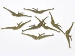 1 Vogelanhänger (Vogel mit ausgebreiteten Flügeln) - bronzefarben