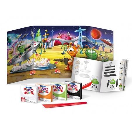 Acheter Kit de modelage et jeux - Monstres de l'espace - Fimo Kids - 10,99€ en ligne sur La Petite Epicerie - 100% Loisirs c...