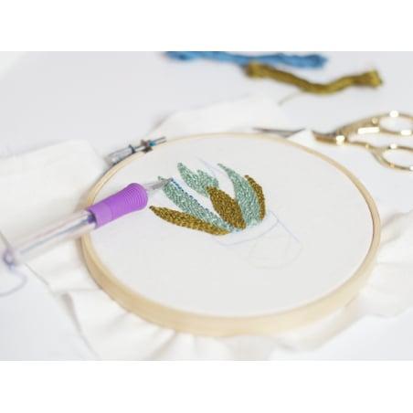Acheter Punch needle / aiguille magique pour broderie facile - violet - 5,99€ en ligne sur La Petite Epicerie - Loisirs créa...