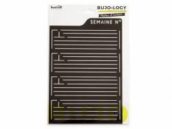 Acheter Pochoir d'écriture pour bullet journal - Semaine n° - 4,90€ en ligne sur La Petite Epicerie - Loisirs créatifs