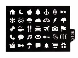 Acheter Pochoir d'écriture pour bullet journal - Icônes - 3,90€ en ligne sur La Petite Epicerie - 100% Loisirs créatifs