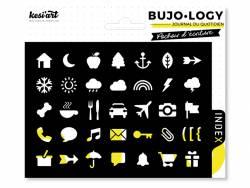 Acheter Pochoir d'écriture pour bullet journal - Icônes - 3,90€ en ligne sur La Petite Epicerie - Loisirs créatifs