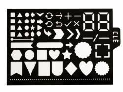 Pochoir d'écriture pour bullet journal - Formes géométriques Kesi art - 1