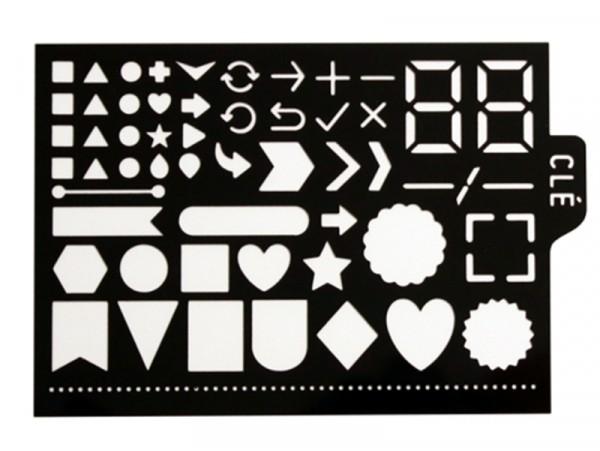 Acheter Pochoir d'écriture pour bullet journal - Formes géométriques - 3,90€ en ligne sur La Petite Epicerie - Loisirs créatifs