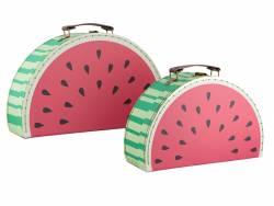 Acheter Set 2 valises - Pastèque - 17,90€ en ligne sur La Petite Epicerie - 100% Loisirs créatifs