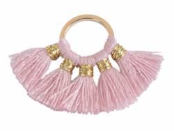 Acheter Pendentif rond doré à pompons - vieux rose - 1,89€ en ligne sur La Petite Epicerie - 100% Loisirs créatifs