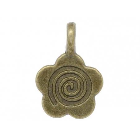 Acheter 1 Breloque fleur 60's - couleur bronze - 0,49€ en ligne sur La Petite Epicerie - Loisirs créatifs