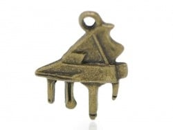 1 small piano charm - bronze-coloured