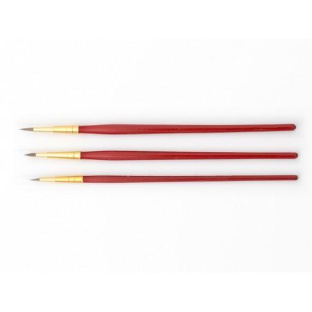 Acheter Lot de 3 pinceaux ronds Winsor & Newton - pure marte rouge - 6,99€ en ligne sur La Petite Epicerie - Loisirs créatifs