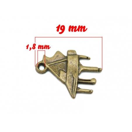 1 small piano charm - bronze-coloured