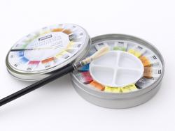 Acheter Coffret 12 demi-godets aquarelle fine - boîte ronde - 18,99€ en ligne sur La Petite Epicerie - Loisirs créatifs