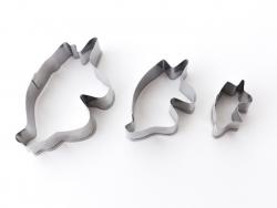 3 emporte-pièces tête de licorne - inox Graine Créative by DTM - 1
