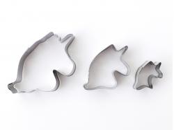 Acheter 3 emporte-pièces tête de licorne - inox - 3,19€ en ligne sur La Petite Epicerie - 100% Loisirs créatifs
