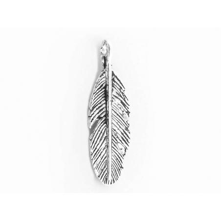 Acheter 1 Breloque plume - argentée - 0,69€ en ligne sur La Petite Epicerie - Loisirs créatifs