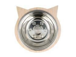 Gamelle pour chat et son socle en bois Artemio - 2