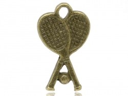 1 tennis racket charm - bronze-coloured