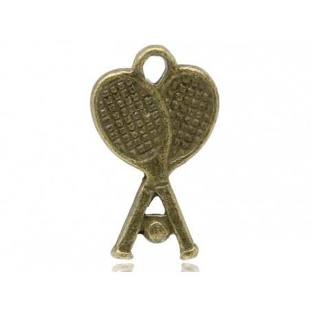1 tennis racket charm - bronze-coloured