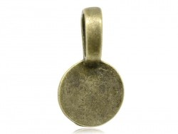 1 breloque ancre - couleur bronze