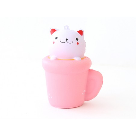 Squishy chat dans une tasse - anti stress  - 1