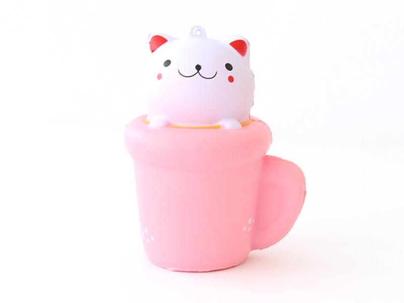 Acheter Squishy chat dans une tasse - anti stress - 7,49€ en ligne sur La Petite Epicerie - 100% Loisirs créatifs